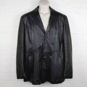Wilsons Suede And Leather Jacket Mens Size 44 Larg